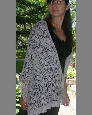 Queen Ann's Lace Woodland Solace Scarf or Stole