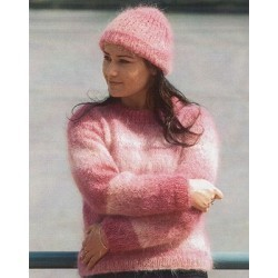 Naturally Round or V-Neck Sweater & Hat