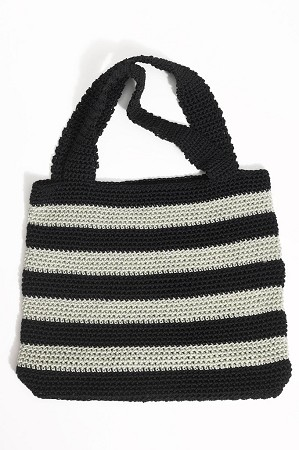 KRW Striped Tote Bag