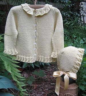 Tree Knitter Designs Daffodil Sweater and Bonnet
