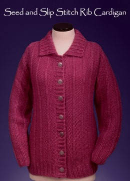 VFD Seed and Slip Stitch Rib Cardigan