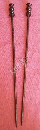 "Rosewood 12"" Single Point Knitting Needles"